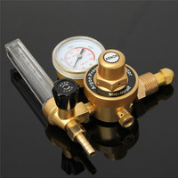 ZEAST AR Argon CO2 Gauge Pressure Regulator Mig Tig Flow Meter Control Valve Reducer Welding Gas Single Tube Aquarium