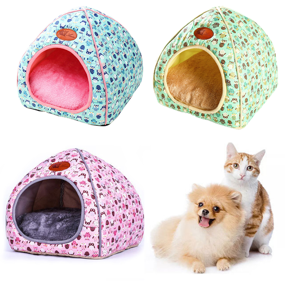 Pet Dog Cat House Tent Kennel Doggy Fashion Winter Warm Soft Cushion Basket Animal Bed Cave Pet Products