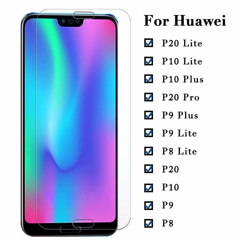 Screen Protector For Huawei P20 Lite P10 Plus Tempered Glass On For Huawei P8 P9 Lite 2017 Tempered Glass Film For P20 Pro P10