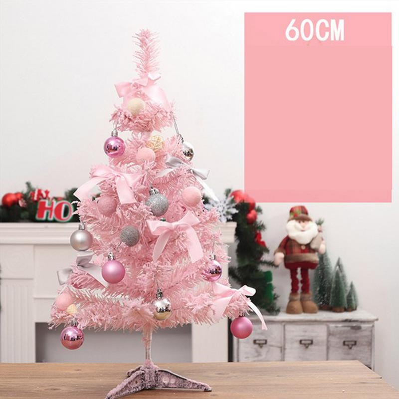 Pink Christmas Tree With Led Light Diy Artificial Xmas Party Holiday Ornament Home Decor Office Decorations In Trees From Garden On