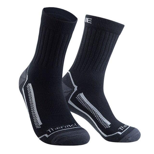 4ab21af598a51 EUR39-46 влагоотводящие износостойкие рабочие носки для мужчин полная  амортизация толстые теплые зимние мужские шерстяные носки из мериноса Б..
