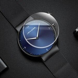 Image 4 - カップルの腕時計の男と女の高級ブランド薄型フルメッシュシンプルなエレガント防水時計のカップルの恋人クォーツビジネス腕時計