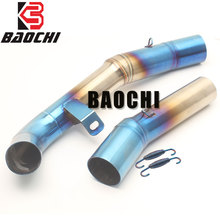Motorcycle Exhaust Adapter Connect Link Pipe Mid Tube for Kawasaki Z1000 Exhaust  2007 2008 2009 2010 2011 2012 2013 2014 2015