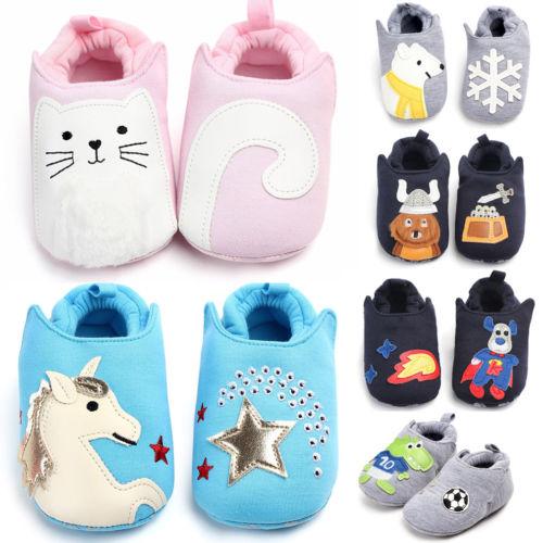 Baby Boys Girls Soft Socks Booties Indoor Shoes Slippers Animal Cartoon Warm