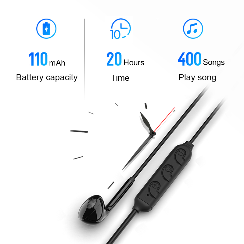 Wireless Bluetooth Earphone Sport Headset For Xiaomi Iphone Universal Bass Sound Stereo Earbud Earphones Fone De Ouvido With Mic in Bluetooth Earphones Headphones from Consumer Electronics