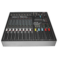 LEORY Professional 8 Channels Audio DJ Mixing Console WIth USB DSP Digital Effects Processors For Live Karaoke Sound Mixer