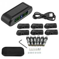 Wireless Solar TPMS Tire Pressure Monitoring System LCD Monitor Alarm with 6 Internal Sensors for Camper Van Truck NEW Arrivals