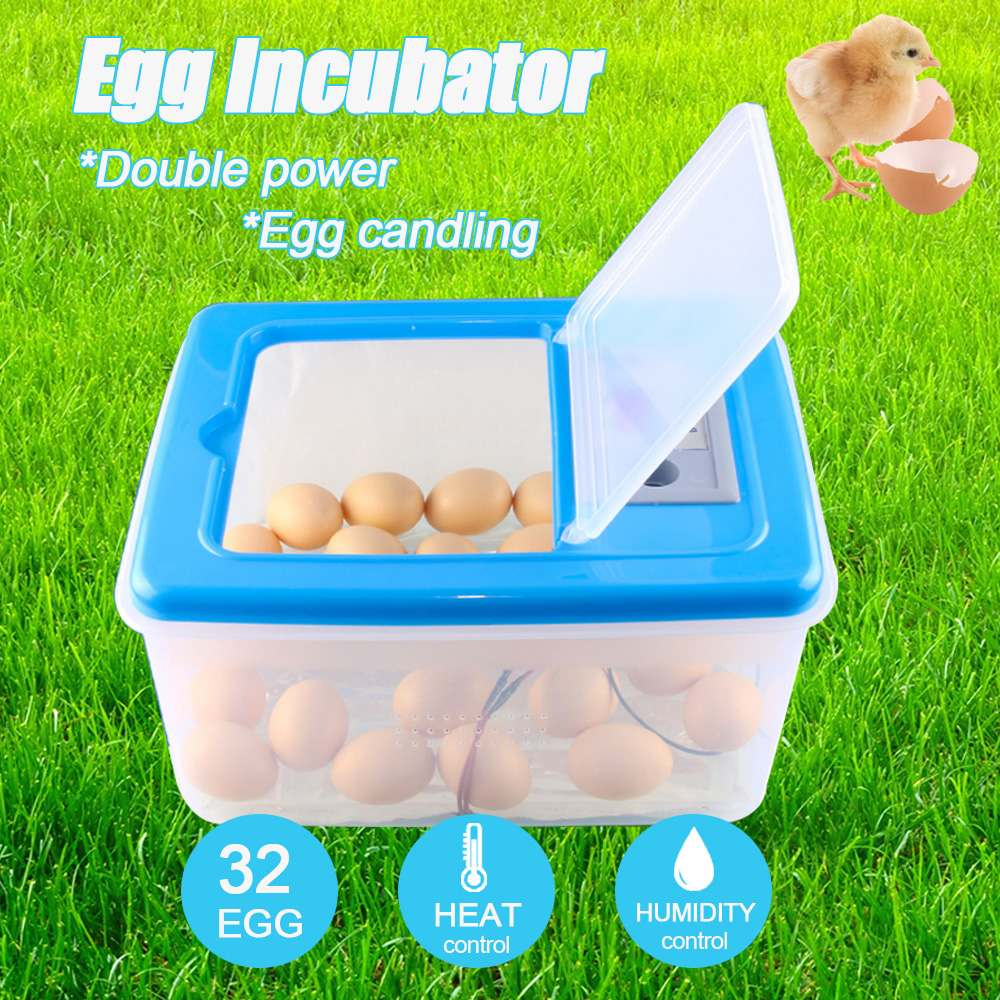 32 Eggs Automatic Incubation Electronic Digital Incubator Hatcher Chicken Duck And Goose Incubator 12V 220V