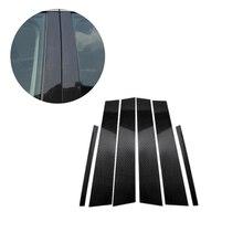 Mercedes Benz C sınıfı için W204 2007 2008 2009 2010 2011 2012 2013 araba karbon Fiber pencere B pillar dış kalıplama kapağı