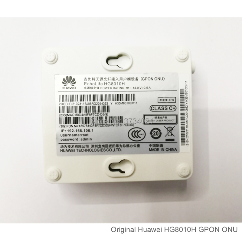 Image 4 - 20Pcs Huawei GPON ONT HG8010H 1GE port SC APC Huawei Echolife HG8010H GPON Terminal ONT Optical FTTH Router-in Fiber Optic Equipments from Cellphones & Telecommunications
