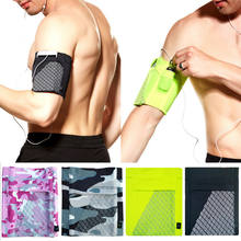 2019 Newest Hot Sports Wrist Arm Band Bag Pouch Mobile Cell Phone Holder Wallet Portable Gym Fit(China)