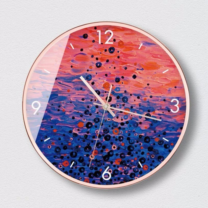 New 3D INS Wave Ripple Wall Clock Modern Design Simple Atmosphere Wall Clock Large Size Metal Silent Movement Clock Home Decor