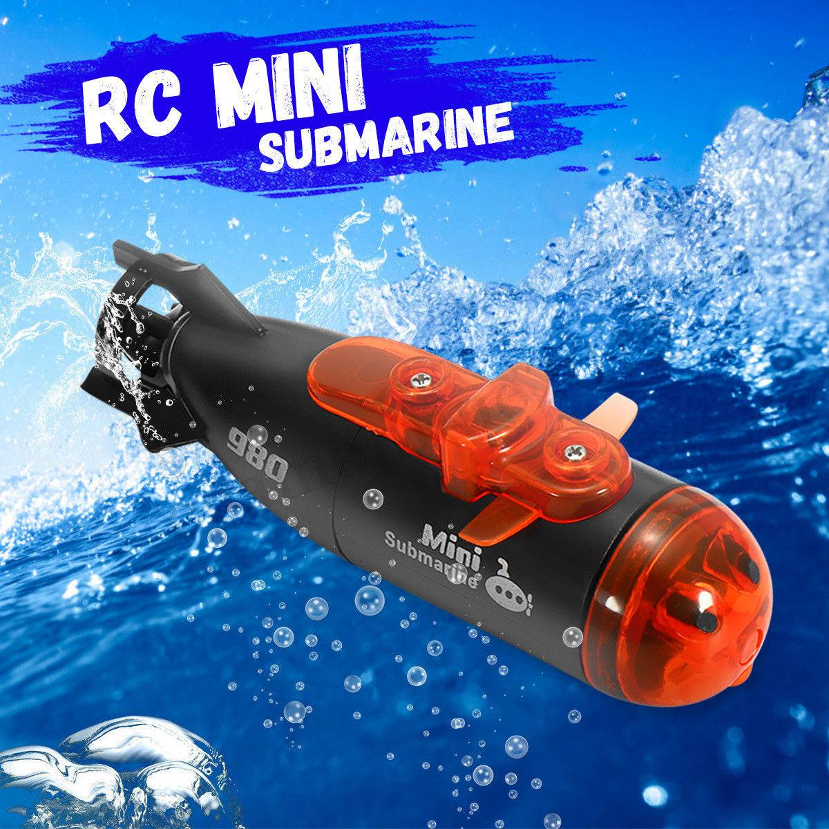 Mini Micro-Radio Remote Control RC Submarine Ship Boat With Led Light Toy Gift Remote Control Submarine For Children 4-15 Years
