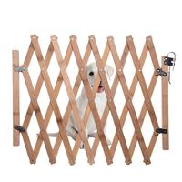 Folding Cat Pet Dog Barrier Wooden Bamboo Safety Gate Expanding Swing Puppy Fence Door Simple Stretchable Wooden Fence