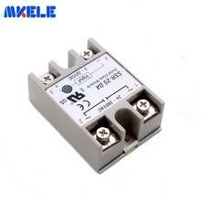 цена на Ssr-25da Dc 25a 3-32v To 24-380v Ac Voltage Transformer Soft Starting Electromagnetic Contact Relay Module Solid State Relay