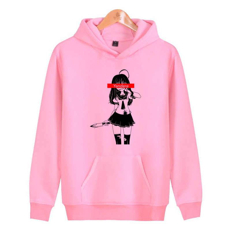 Yandere Simulator Hoodies Sweatshirts Men Women Harajuku Male Homme Pullover Streetwear Hip Hop Hoddies J2531
