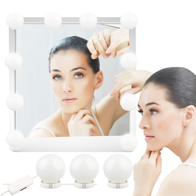 10pcs/set akeup Mirror Vanity LED Light Bulbs Kit Cool White Lamp with Dimmer and USB Power Plug Dressing Table B910pcs/set akeup Mirror Vanity LED Light Bulbs Kit Cool White Lamp with Dimmer and USB Power Plug Dressing Table B9