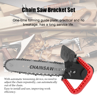 11.5 Inch Chainsaw Refit Conversion Kit Bracket Set Change Angle Grinder Into Chain Saw Woodworking Tool + 10mm Connecting Rod