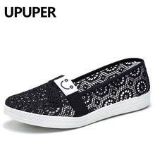 UPUPER 2019 Summer Women's Shoes Breathable Lace Ladies Flat