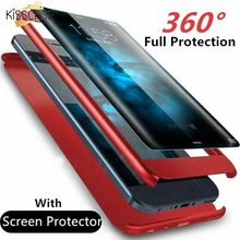 KISSCASE 360 Full Coverage Phone Case For iPhone MAX XR XS X Tempered Film Screen Protector 8 7 6 6s Plus 5 5s Covers