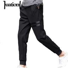 Huation Hip Hop Harem Pants Mens Joggers Trousers Skinny Black Tracksuit Fitness Compression Sweatpant men