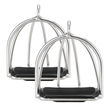2 PCS Cage Horse Riding Stirrups Flex Steel Horse Saddle Anti skid Horse Pedal Equestrian Safety Equipment