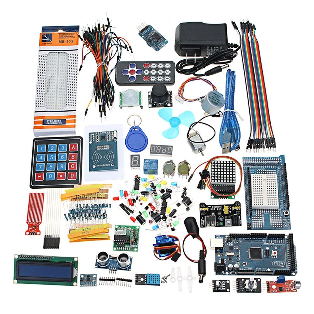 Ultimates Starter Kit including Ultrasonic Sensor UNO LCD1602 Screen for Arduino Mega2560 for UNO for Nano with Plastic BoxUltimates Starter Kit including Ultrasonic Sensor UNO LCD1602 Screen for Arduino Mega2560 for UNO for Nano with Plastic Box