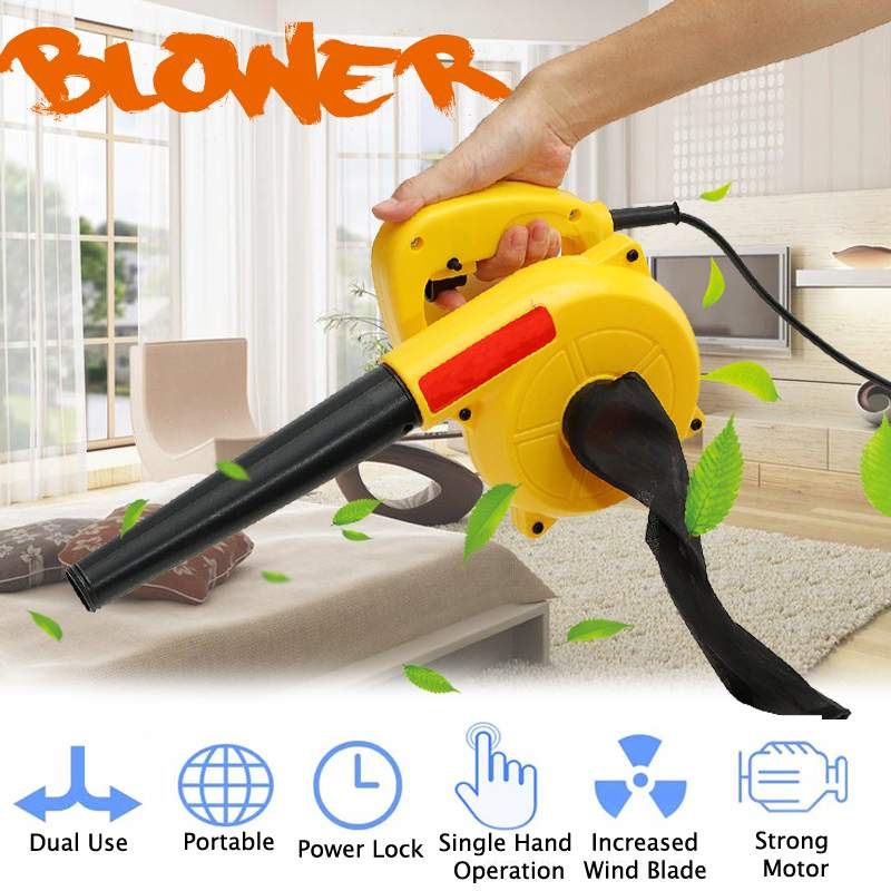 900W Powerful Air Blower Vacuum Cleaner Portable Electric Turbo Fan Home Computer Dust Remover Leaf Collector