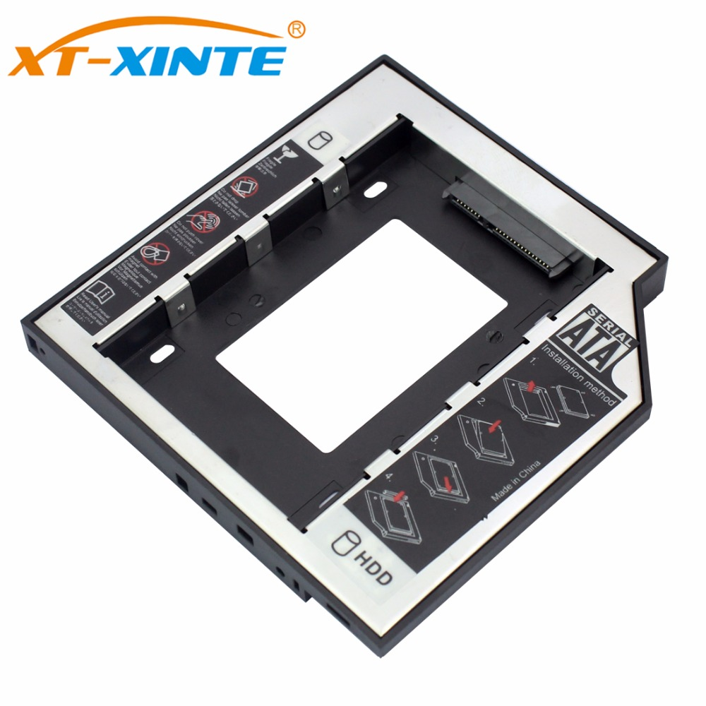 Plastic Aluminum Universal Optibay 2nd HDD Caddy 9.5mm SATA3.0 2.5