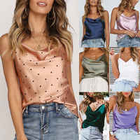 Sexy Spitze Casual Satin Strap Weste Tops Tank Leibchen T-Shirt Bluse Frauen