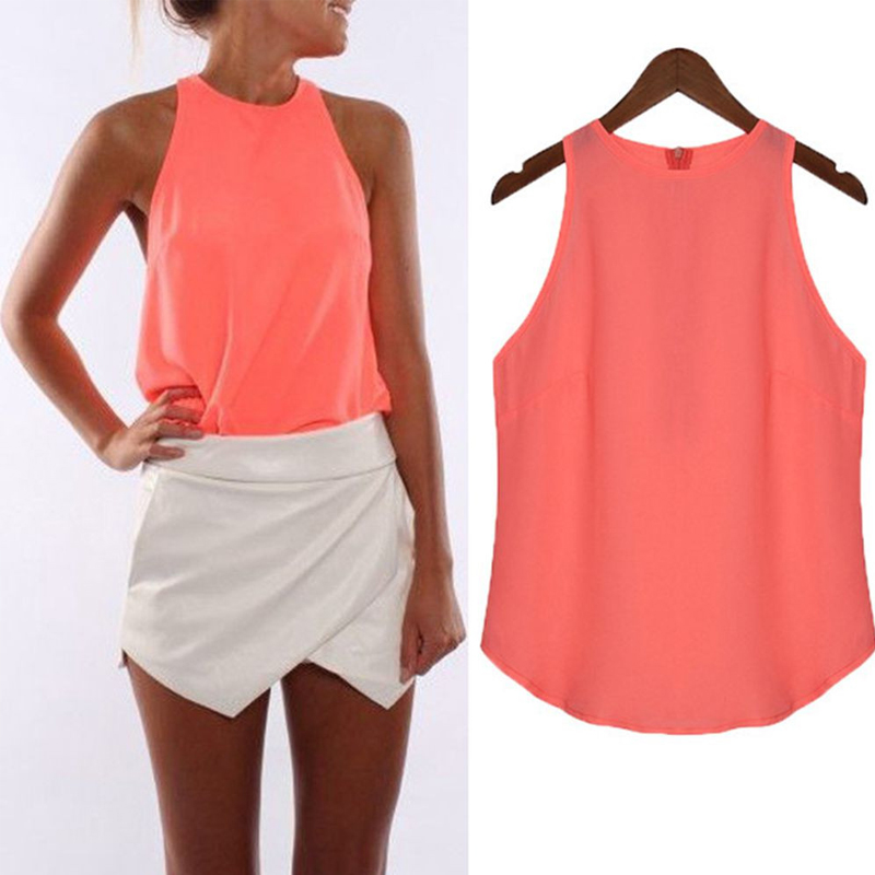 ZANZEA Plus Size Women Halter   Tops   Chiffon Shirts 2019 Summer Sexy Sleeveless   Tank     Top   Casual Blusas Mujer Solid Beach Lady Vest