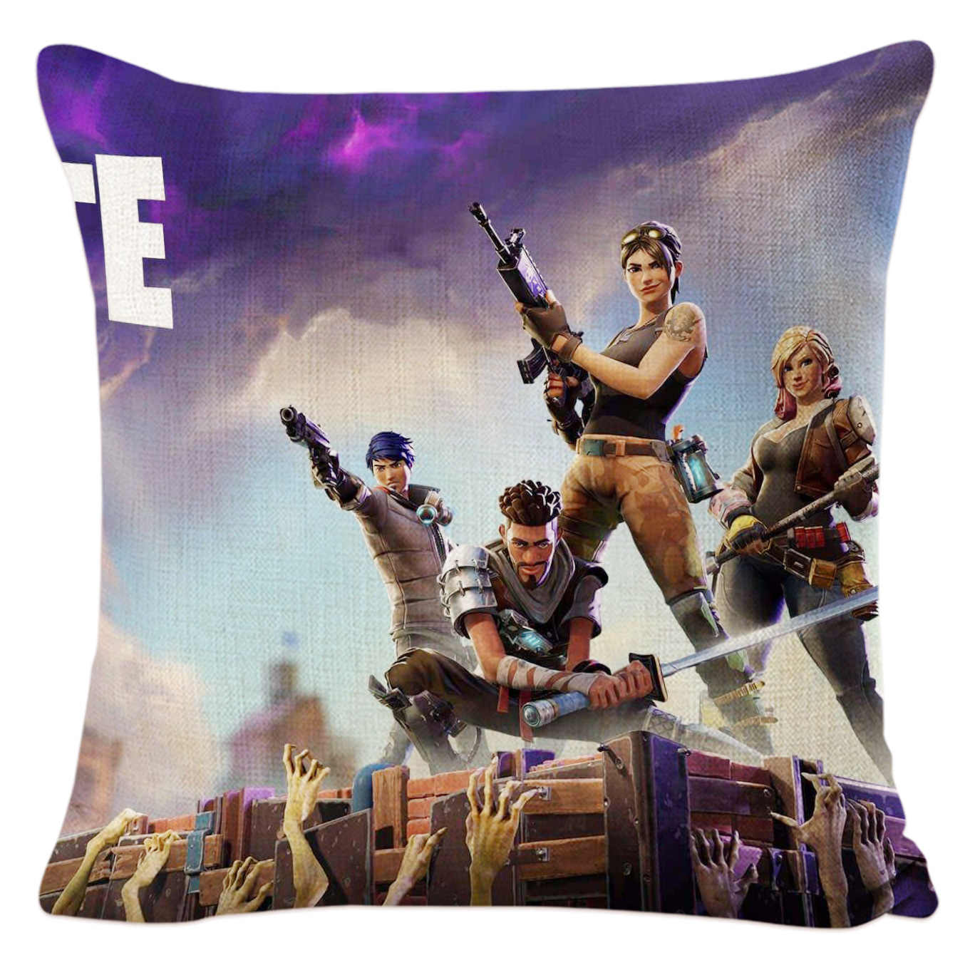 UBRUSH Explosion Models Home Fort Pillow of Night Animation Cushion han xin Pp Cotton Linen Pillow Cover to Map Custom-Built