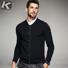 377543f6f5bb KUEGOU Spring Mens Sweaters Zipper Button Style Cardigan Knitting Brand  Clothing Slim