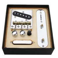 85,5 x77x 10,5mm Gitarre Neck Pickup w/Brücke Linie Platte Set für Telecaster Elektrische Gitarre Bieten Perfekte Ton
