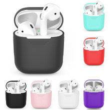 TPU Silicone Bluetooth Wireless Earphone Case For AirPods Protective Cover Skin Accessories For Apple Air Pods Charging Box(China)