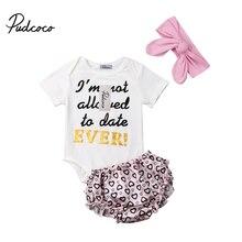 Для маленьких девочек комплект летней одежды хлопковые топы комбинезон с цветным узором комплект с брюками и топом; малыш новорожденный младенец, одежда для детей