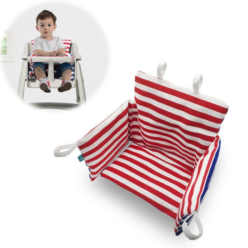 Baby Kids Booster Seats Cushion Pad Mat Highchair Red And Blue Stripes Cushion Feeding Chair Cushion Pad Mat  Size 75*46.5cm