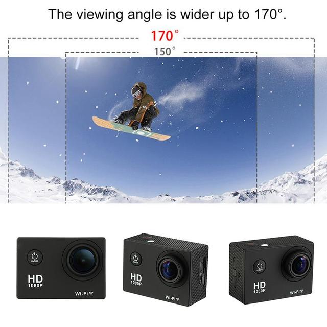 Camera 2.0 inch LCD Screen Waterproof 4K HD 1080P WiFi Motion Camera with Case For Sport Recorder For HAMTOD HKJ400 For Action