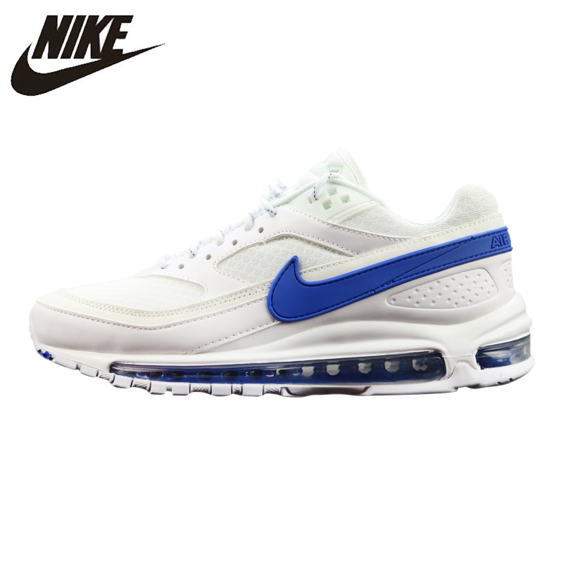 Official New Arrival Nike Air Max 97 OG QS 1697 Men's Running Shoes Original Breathable Outdoor Sports Shoes Airmax 97 Mens