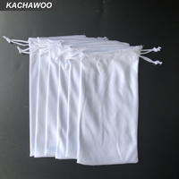 Kachawoo 100PCS Sunglasses Bag Soft Pouch White Eyeglasses Reading Glasses Carry Bag Customized Logo Available