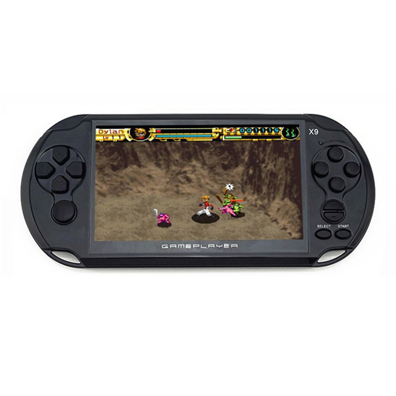 MOOL 5.0 Large Screen Handheld Game Player Support TV Out Put With MP3 Multimedia Video Game Console 8G(Black)