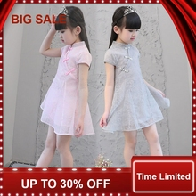 Gift Summer lace Girls Dress Baby Girl Cotton Chlidren Clothes Kids Party Clothing For