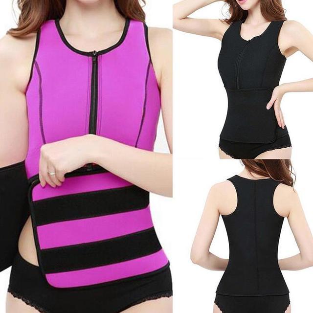 NEW Neoprene Sauna Vest Hot Body Shaper Slimming Waist Trainer Shaper Fashion Workout Shapewear Adjustable Sweat Belt Corset 4