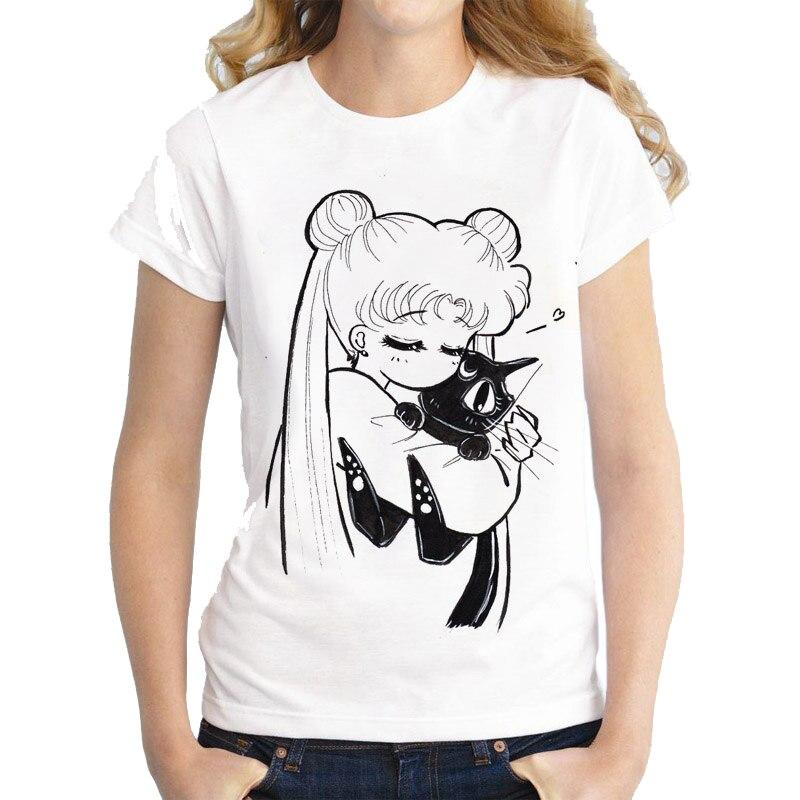 Hahayule Ich Bin Einfach Nur Ein Wenig Unbeholfen Sailor Mond Zitate T-shirt Frauen Kawaii Japanischen Anime Ästhetischen Weißen T Hipsters Frauen Kleidung & Zubehör T-shirts