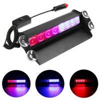 12V 8LED Brake Lights LED Car Flash Light Windshield Sucker Rear Glass Auto Emergency Warning Lamp Red&Blue