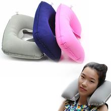W kształcie litery U poduszka podróżna szyi przód samochodu dmuchana poduszka do wypoczynku dla poduszka na szyję podróżna dmuchana poduszka do wypoczynku poduszka pod kark tanie tanio NoEnName_Null Podróży Nadmuchiwane NECK 0-0 5 kg U Shaped Pillow quality Stałe Flocking Other 1 x Inflatable U Shaped Pillow