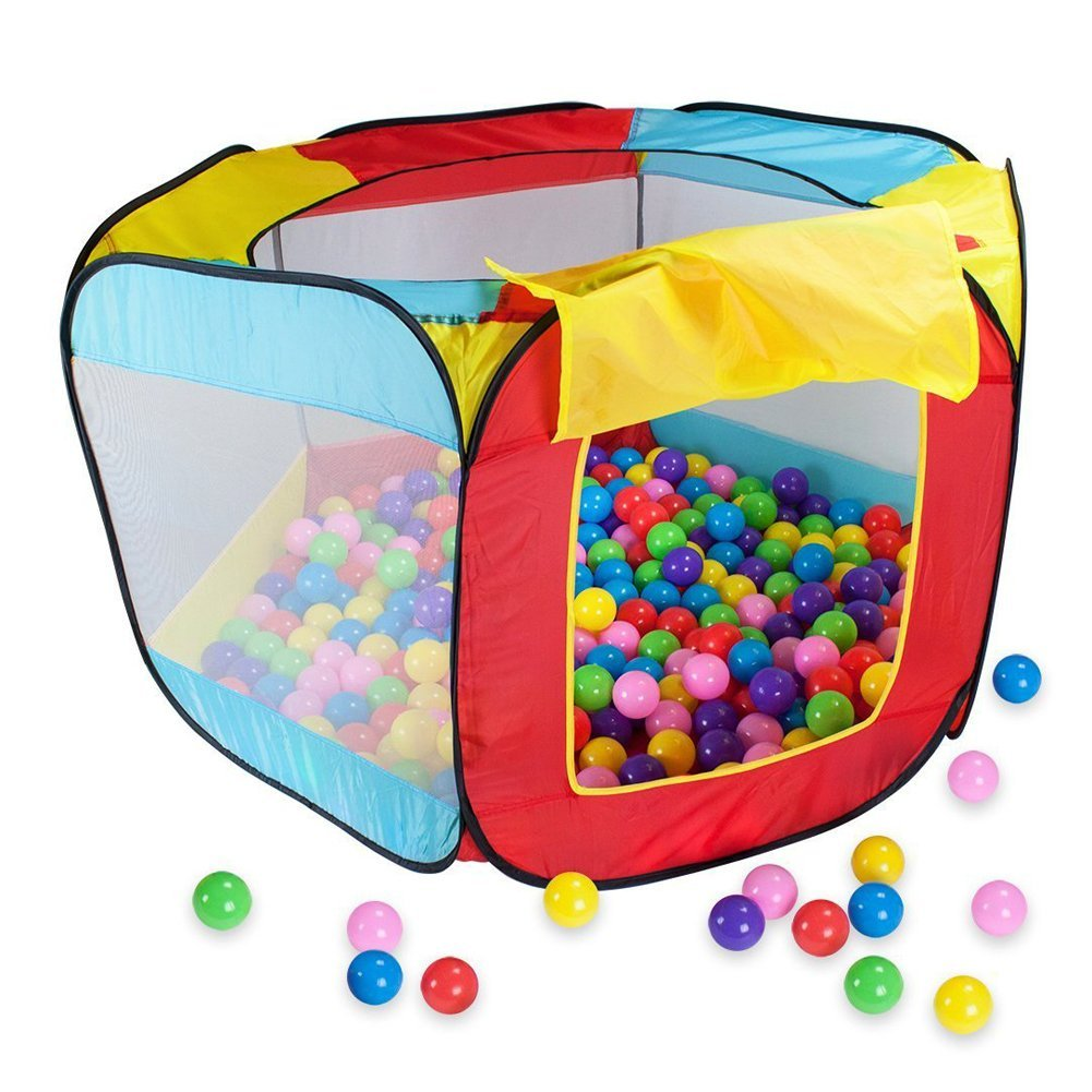 Play House Indoor and Outdoor Easy Folding Ball Pit Hideaway Tent Play HutPlay House Indoor and Outdoor Easy Folding Ball Pit Hideaway Tent Play Hut