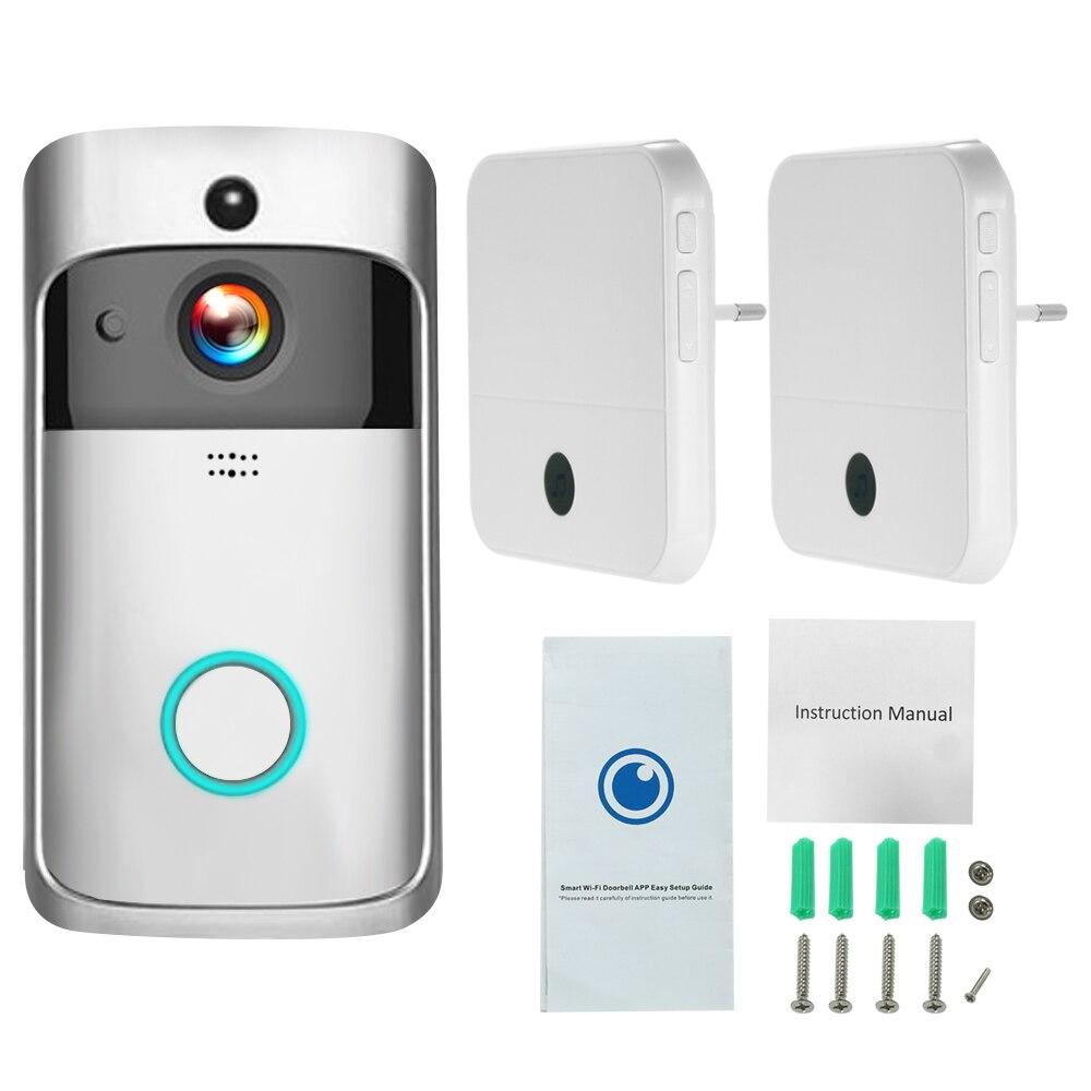WiFi Smart Wireless Security DoorBell Smart HD 1080P Visual Intercom Recording Video Door Phone Remote Home
