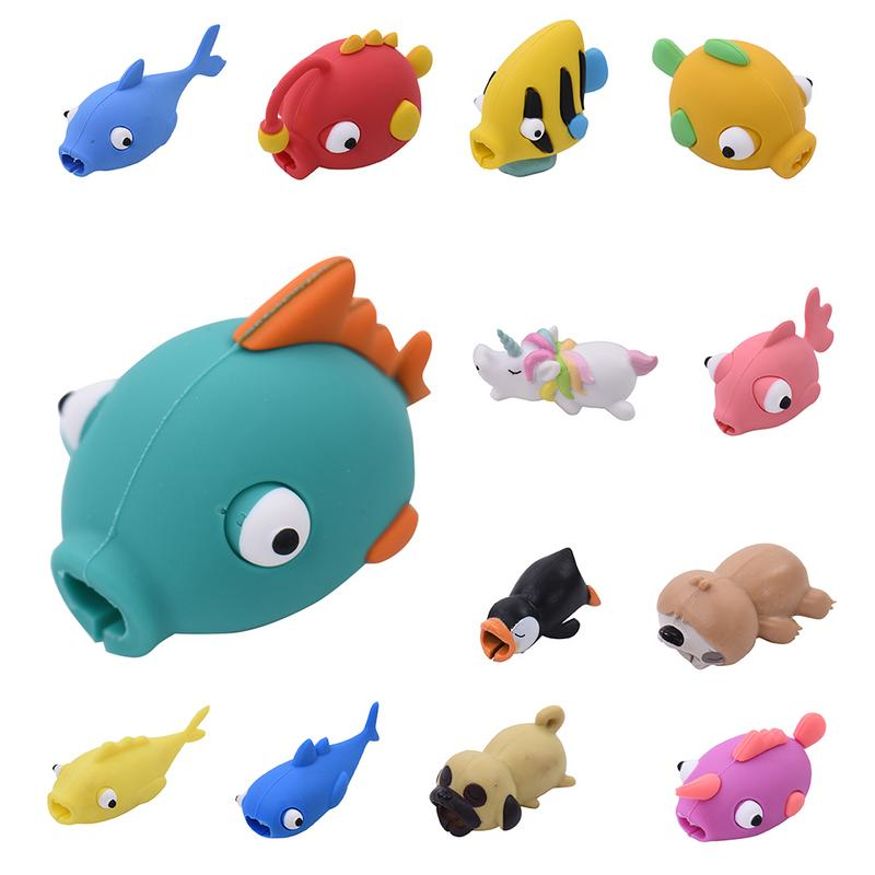 New Colorful Cable Protector Winder Animal Shape Bite Anti Break Data Cord Wire Protective Cover Promotion