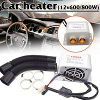 cacoonlisteo 12V Car Heater 600W/800W Winter Auto Glass Defroster Window Heater for Car Air Outlet 2 Warm Dryer Car Interior